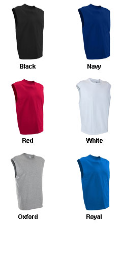 Russell Mens Cotton Muscle T - All Colors