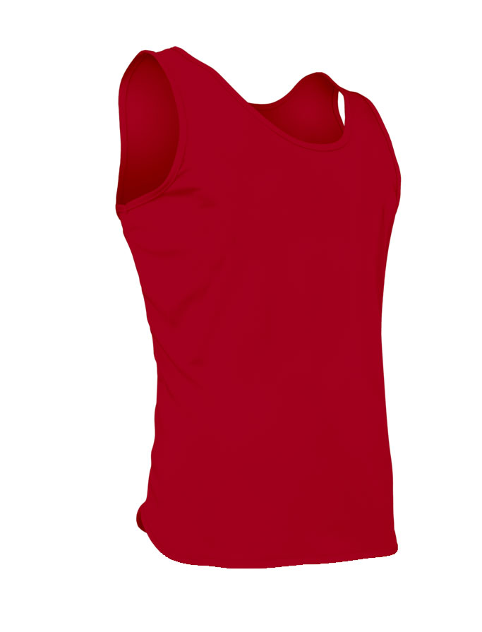 Mens Solid Tricot Singlet
