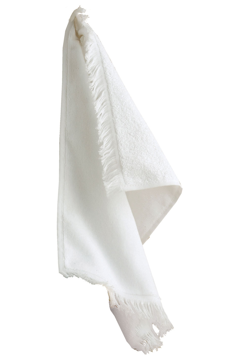 Anvil White Fringed Hand Towel