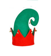 Custom Felt Elf Hat With Bells
