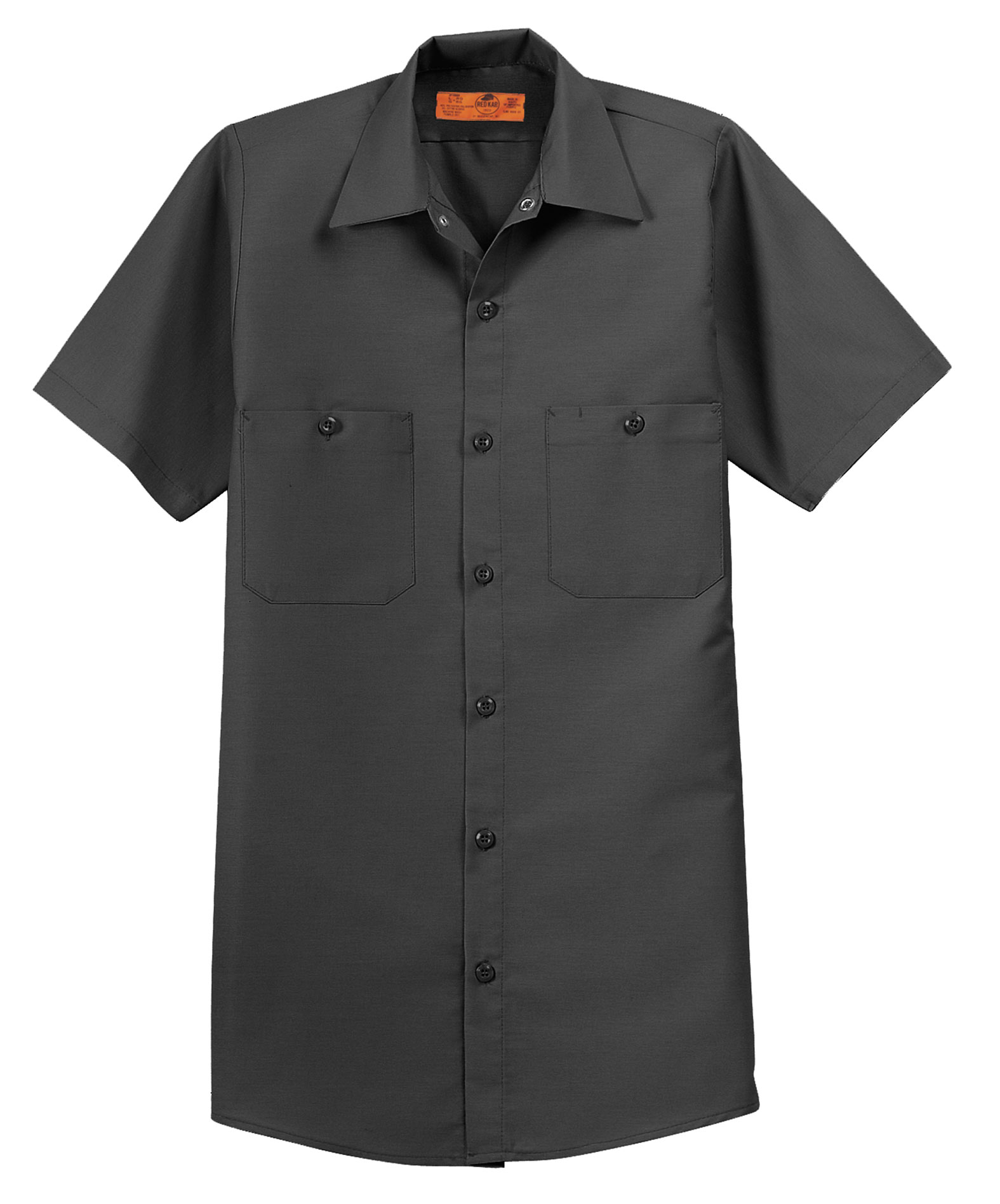 Red Kap Mens Half Sleeve Industrial Work Shirt