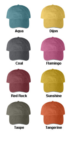 Solid Pigment-Dyed Twill Sandwich Cap - All Colors