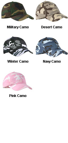 Six Panel Camouflage Cap In Six Colors - All Colors