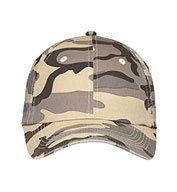 Custom Six Panel Camouflage Cap In Six Colors